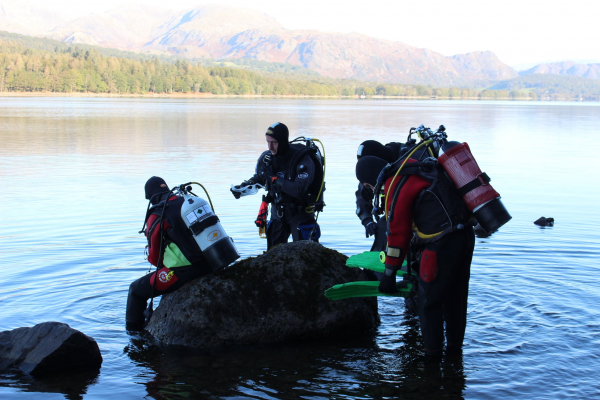 Diving in Coniston